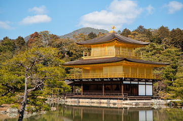 Kinkakuji Golden Pavilion Temple in Kyoto.