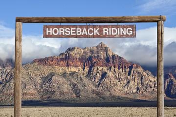 Old Horseback Riding Sign
