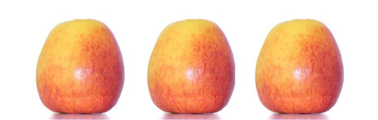 3 Äpfel nebeneinander