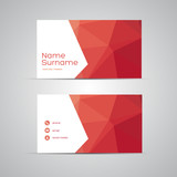 Fototapety Modern Business-Card Set vector red