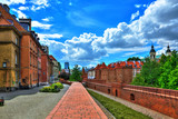 Fototapety Old Town in Warsaw, the view of the Barbican