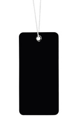 Blank Black Cardboard Sale Tag Empty Price Label Stripe Isolated