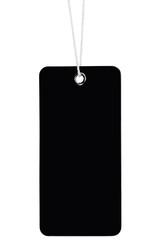 Blank Black Cardboard Sale Tag Empty Price Label Stripe Isolated