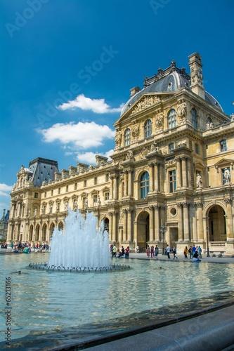 Leinwanddruck Bild Musée du Louvre à Paris