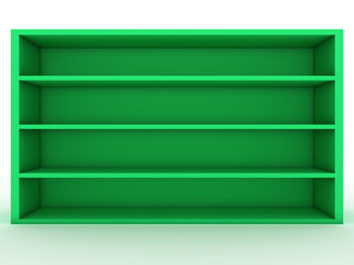 Blank green shelf