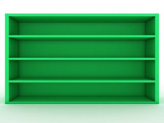 Blank green shelf