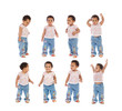 Sequence of a african baby standing