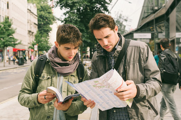Young tourists in london