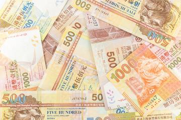 closeup Hong Kong Dollar