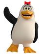 female penguin saying hello