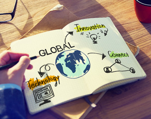 Businessman with Global Business Concept