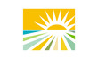 eco-sun and land icon