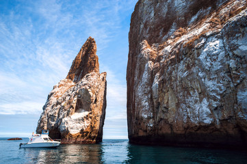 Cliff Kicker Rock, the icon of divers, Galapagos