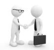 3D Businessman Shaking Hands