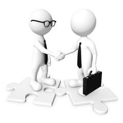 3D Businessman handshaking