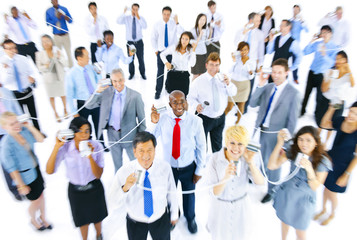 Large Group of Business People Communication