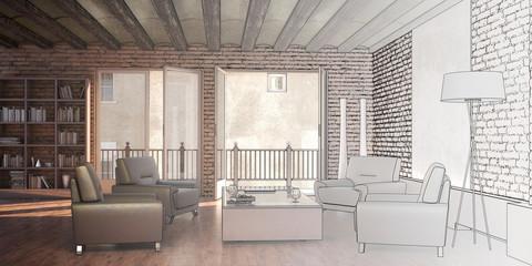 Restorated Interior (drawing)