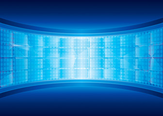 Abstract digital background of virtual screen.