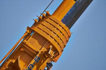 Details  of boom truck crane.