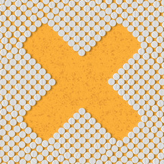 pills concept: cross, no