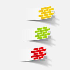 realistic design element: brick, construction