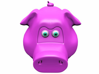 the  pink pig piggy bank