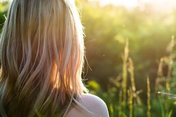 Gorgeous Romantic Girl Outdoors,