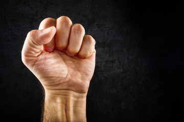 Riot protest fist
