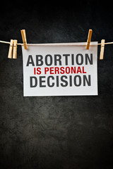 Abortion is personal decision