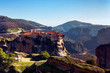 Meteora rock formations and monasteries