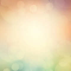 Defocused abstract background. Colorful circles of light abstrac