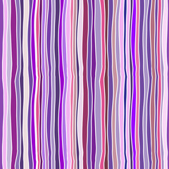 Seamless vector pattern - hand drawn bright stripes and waves