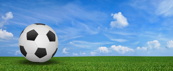 Landschaft mit Fussball
