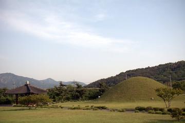 Royal tombs, Geongju, Korean Republic