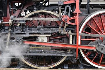 part of active steam locomotive