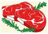 bistecche pop art style - 65224115