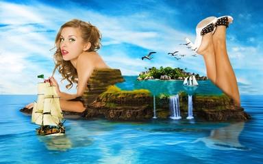 девушка-остров