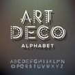 Alphabet letters collection, art deco style - 65224929