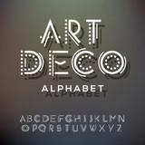 Alphabet letters collection, art deco style