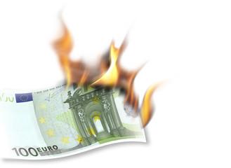 euro brennt