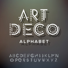 Alphabet letters collection, art deco style