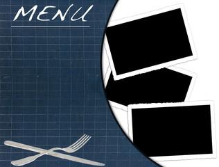ardoise menu restaurant, fonds pour photos