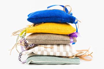 Textile sachet pouches
