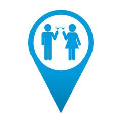 Icono localizacion simbolo brindis