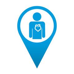 Icono localizacion simbolo cardiologia