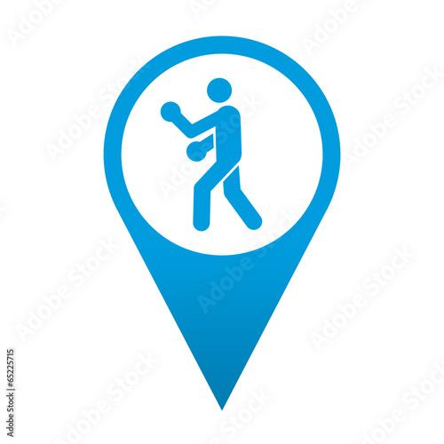 Icono localizacion simbolo boxeo