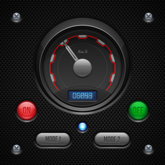 Carbon UI Application Software Controls Set.
