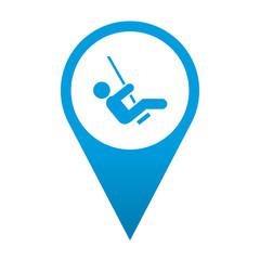 Icono localizacion simbolo columpio