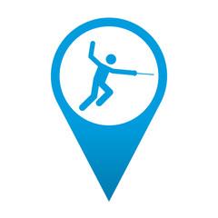 Icono localizacion simbolo esgrima