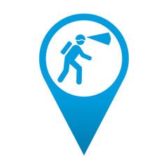 Icono localizacion simbolo espeleologia